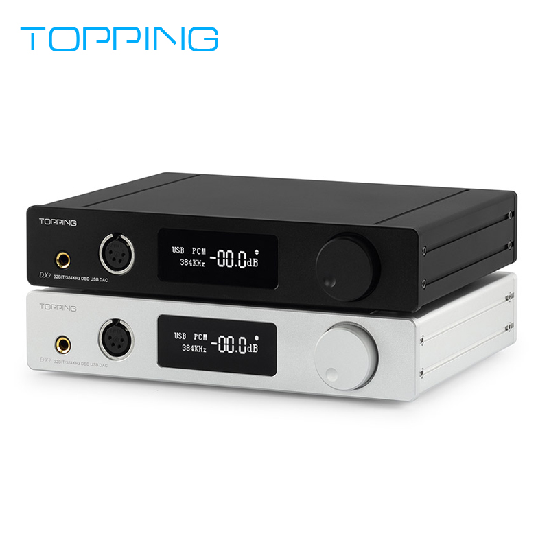 TOPPING DX7 Full Balanced DAC/DSD/USB Headphone Amplifier Decoder 32BIT/384KHz ESS9018K2M *2 XMOS TPA6120*2 opa2134 cozoy rei mini dac headphone amplifier dsd256 32bit 384khz