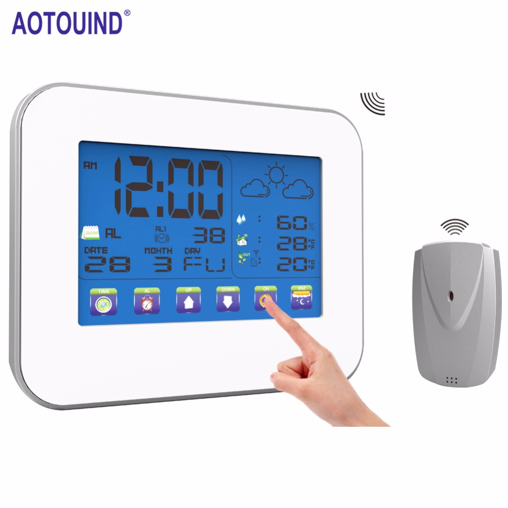 AOTOUIND 3 Sensors+Wireless Professional Touch Screen Weather ...