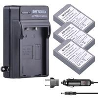 3Pcs 2000mAh BLS 5 BLS5 Bls50 Battery+Wall Charger Kits + for Olympus OM D E M10, PEN E PL2, E PL5, E PL6, E PM2, Stylus 1