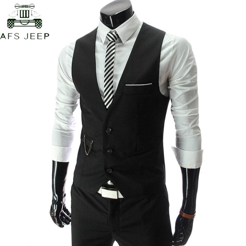 2018 Dress Vests For Men Slim Fit Mens Suit Vest Male Waistcoat Gilet Homme Colete Masculino Social Formal Business Jacket 4XL