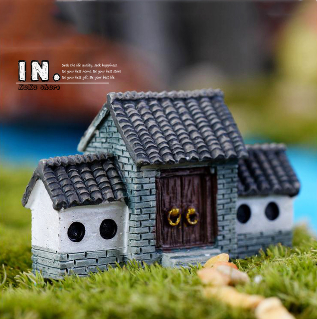 Classical Chinese Style House Home Decor Lawn Miniatures Micro Garden  Figures Sculpture Figurines Toys DIY Accessories
