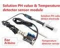 free shipping 1SET Solution PH value & Temperature detector sensor module for arduino PRESSURE