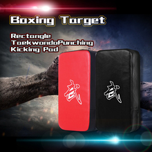 Red Black Rectangle Focus Boxing Kick Target Hand Foot Punching Bag Boxing Pad Power Punch  Martial Arts Training Equipment A glove on flat punching mitts for boxing and martial arts training color assorted