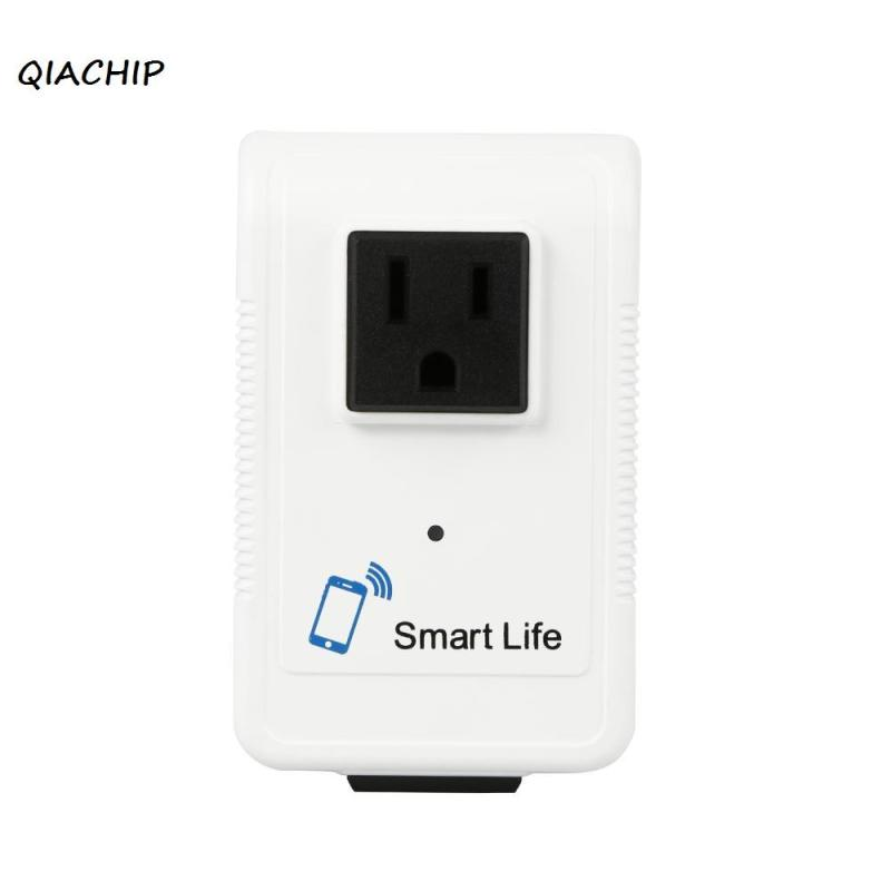 QIACHIP Wifi Smart Socket Plug Timer Setting Wifi APP Remote Control wall switch dual Outlet For Smartphone Tablet 220V US Plug qiachip wifi power outlet eu plug socket temperature sensor intelligent temperature control english command control switch timer