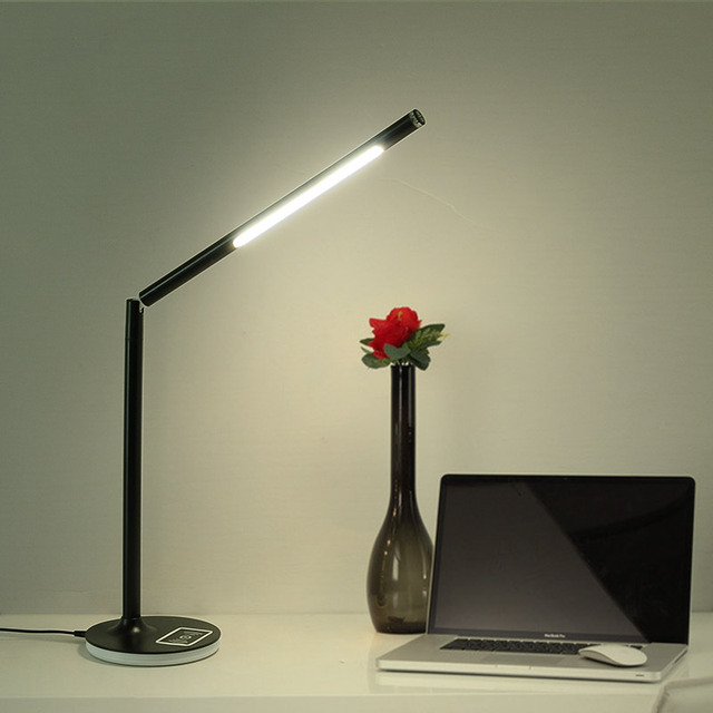 DAR 5W Led Table Lamp Eye Care iphone8|ipx Wireless Charge Led Desk Lamp Touch-Sensitive Rotatable Reading Light 3 Mode Dimming