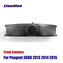 Liandlee Car Front View Camera AUTO CAM For Peugeot 3008 2013 2014 2015 Logo Embedded ( Not Reverse Rear Parking Camera ) liandlee car front view camera auto cam not reverse rear parking camera for toyota auris 2012 2018 2013 2014 2015