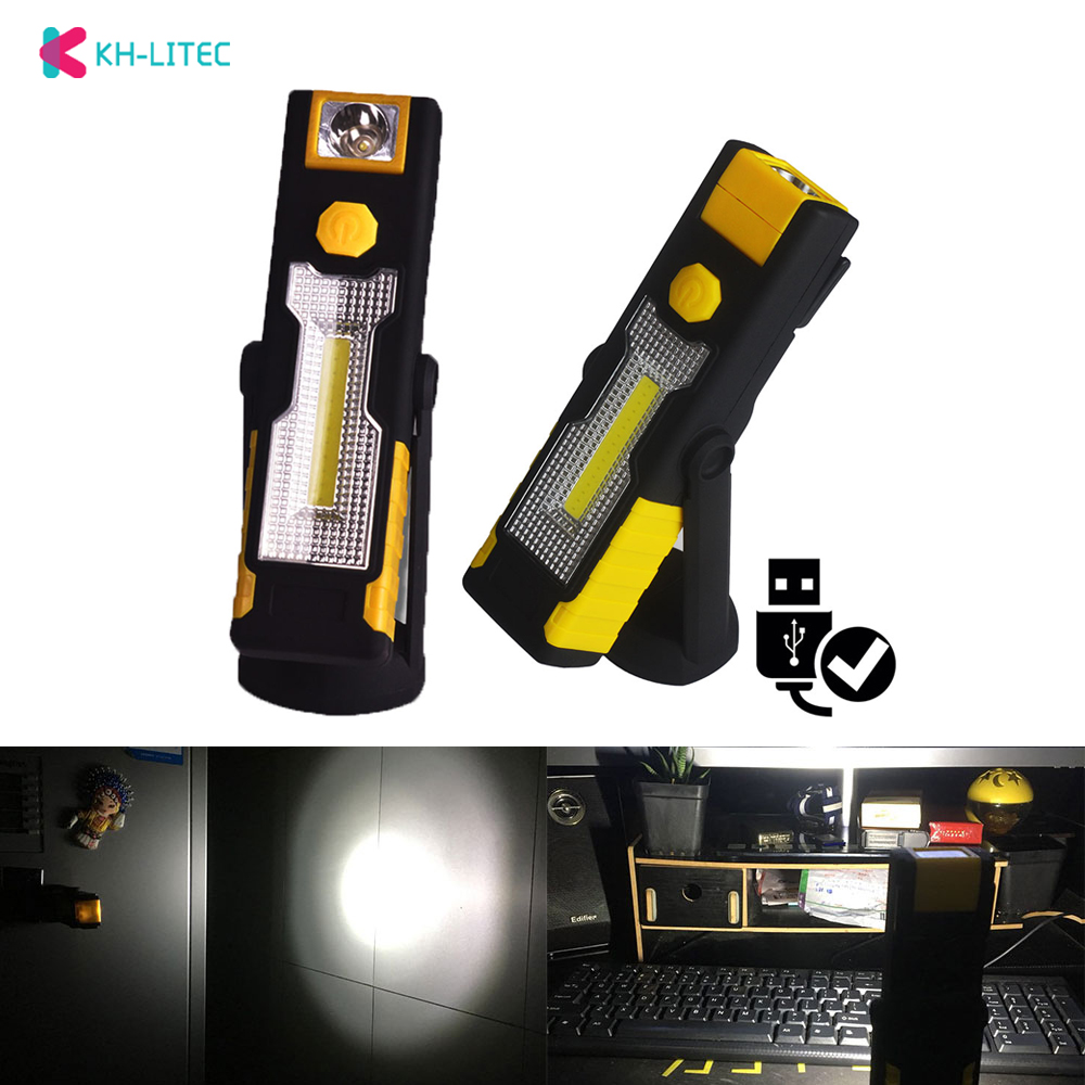 Portable spotlight LED Flashlight USB Work Light Rechargeable Magnetic Hanging Hook Lamp Camping Car Repairing Bar Light TorchPortable spotlight LED Flashlight USB Work Light Rechargeable Magnetic Hanging Hook Lamp Camping Car Repairing Bar Light Torch