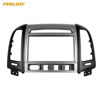FEELDO Car 2Din DVD Radio Fascia Frame for Hyundai Santafe High-End 07-12 Installation Trim Dash Kit Frame Panel Adapter