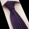 Mantieqingway Formal Lazo del Negocio de Los Hombres de Moda de Poliéster 7 cm Corbatas para Los Hombres Clásico de Rayas Dots Plaid Corbata de Boda marca