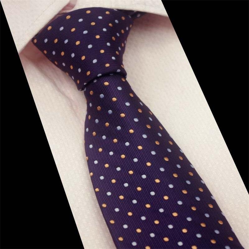 Mantieqingway formāls vīriešu biznesu kaklasaites modes poliesters 7cm kakla kaklasaites vīriešiem klasisks svītrains punktiņu raibums kāzu zīmols