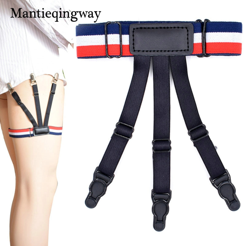 Business Mens Shirt Stays Garter Adjustable Suspenders Braces Elastic Shirts Garter Holder Suspensorio Belt