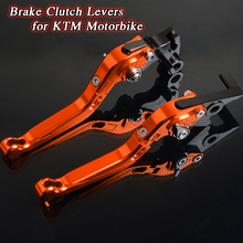 For KTM 200 Duke RC200 390 RC390 DUKE250 RC125 125 Motorbike Levers Motorcycle Brake Clutch Foldable Extendable