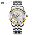 BUREI 2017 Fashion Watch Men Automatic Stainless Steel 24 hours Dial Business Wristwatch Waterproof Male Clock Relogio Masculino