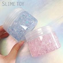 Berbulu Floam Lendir Antistress Kristal Manik Lendir DIY Mainan Untuk Anak Mainan Lumpur Cerdas Transparan Jelas Lendir Cahaya Lembut Tanah Liat