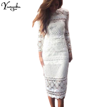 Sexy Hollow White Lace party dress women befree long sleeve christmas Long dress elegant streetwear female summer dress vestido шапка befree befree mp002xw156mx