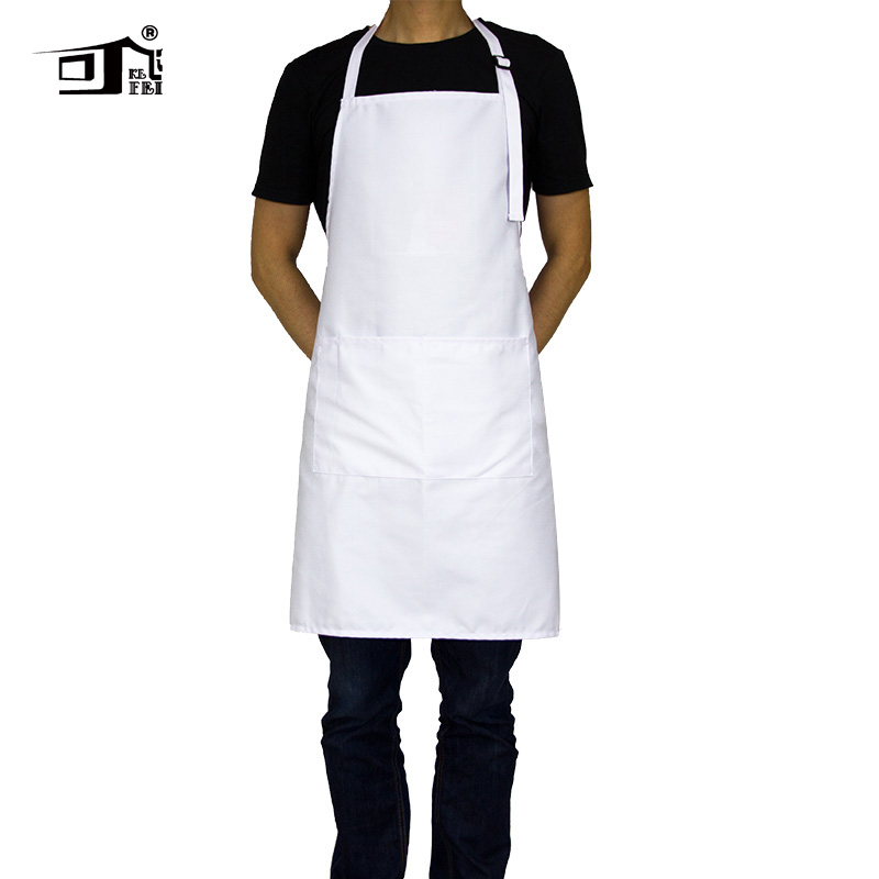 Us 7 1 29 Off Original Kefei Aprons For Woman Chef Apron Personalized Aprons Adjustable Neck With 2 Pockets 10 Color Long White Apron In Aprons