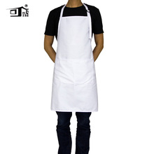 Original KEFEI Aprons for Woman Chef Apron Personalized Adjustable Neck with 2 Pockets 10 Color Long White