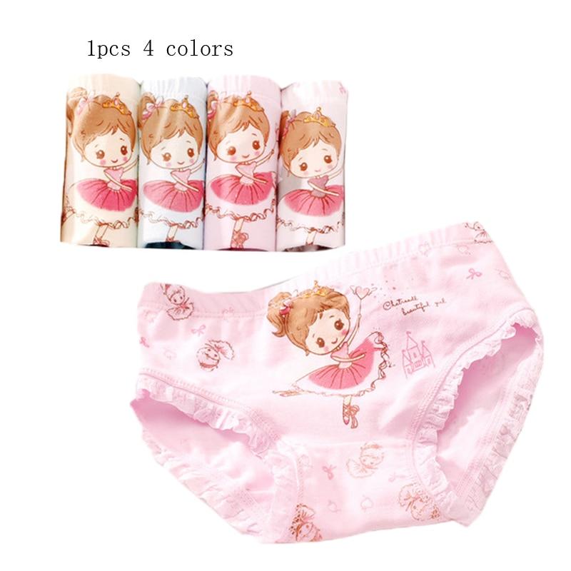 100% Waar 1 Stks Nieuwe Merk Kids Slipje Meisjes Cartoon Mooie Meisje Patroon Slips Vrouwelijke Kind Ondergoed Mooie Kinderkleding Baby