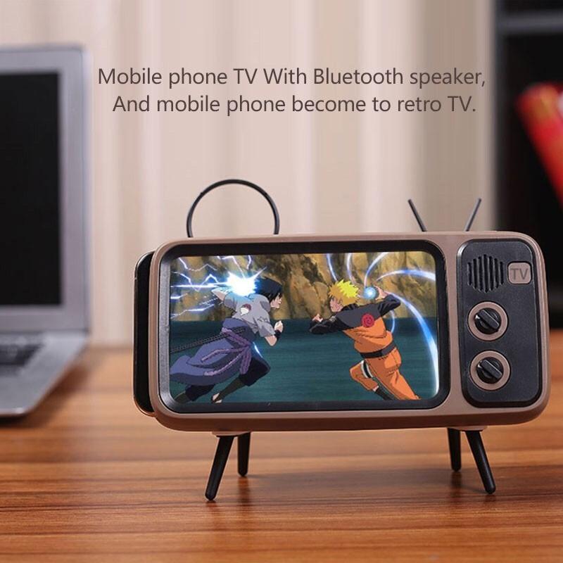 Tragbare klassische bluetooth lautsprecher retro mini tv audio player - Tragbares Audio und Video - Foto 3