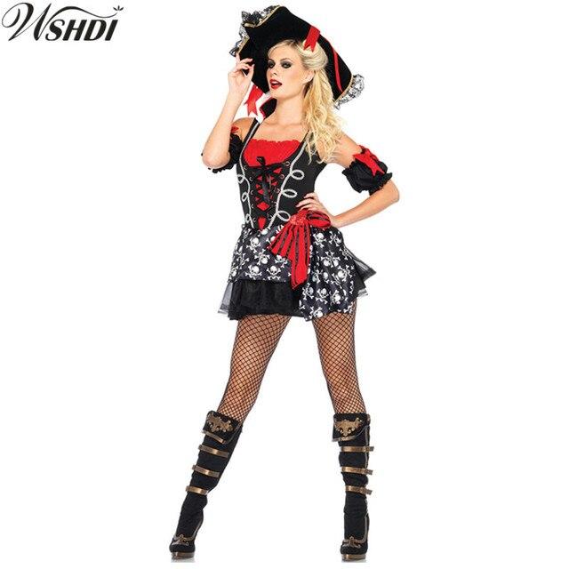 7672a64e41f4 Donne di Età Pirate Costume di Carnevale di Halloween Sexy Cosplay Del  Partito Costumi di Fantasia