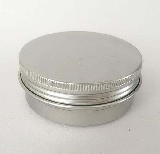 Free shipping 100pcs lot 50g aluminium cream jars with screw lid cosmetic case jar aluminum tins