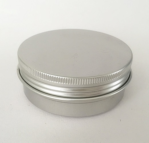 Free shipping 100pcs/lot 50g aluminium cream jars with screw lid,cosmetic case jar,aluminum tins, aluminum lip balm container-in Refillable Bottles from Beauty & Health    1