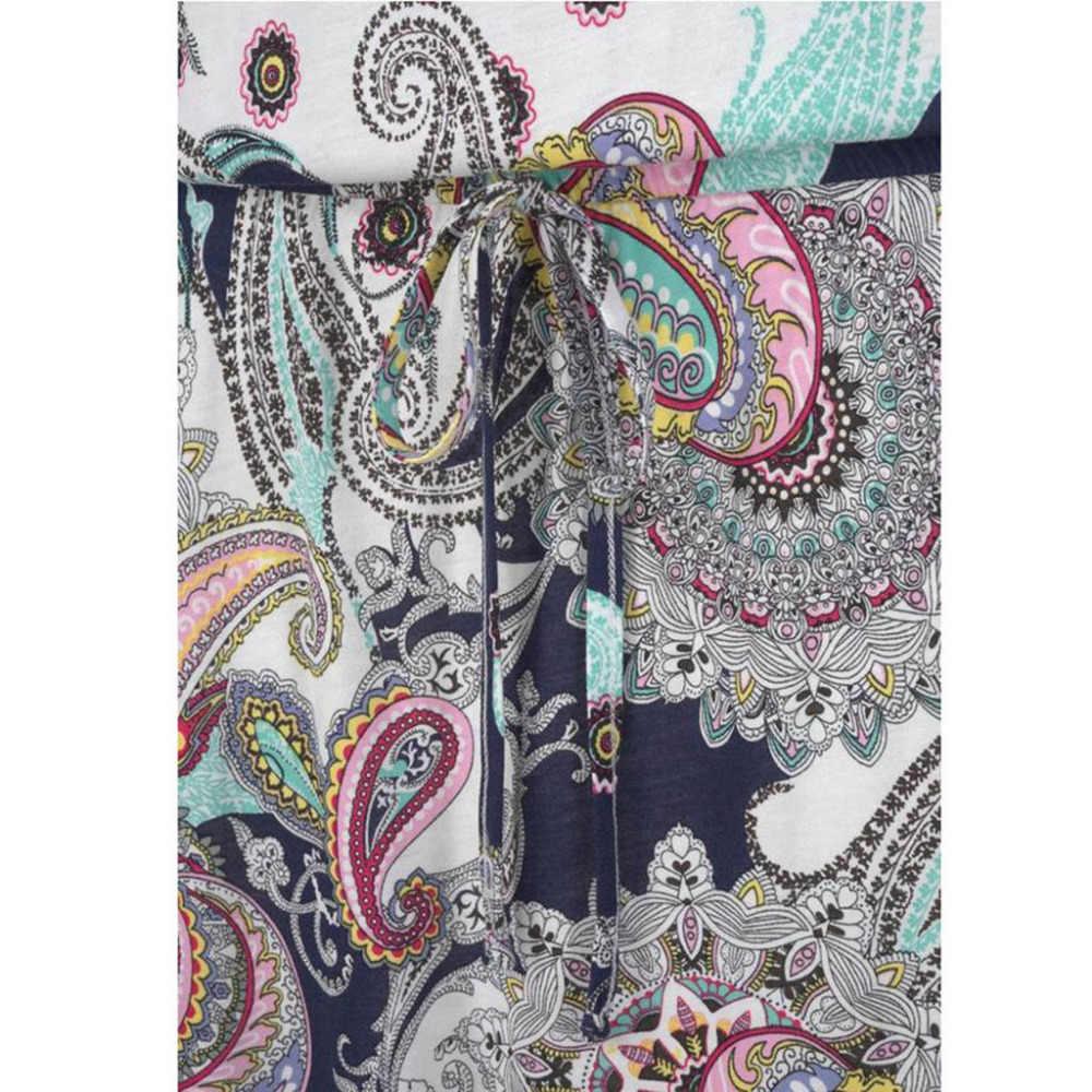 Женские повседневные богемные вечерние платья макси без рукавов с принтом, Пляжное платье, сарафан, большие размеры vestiti da spiaggia