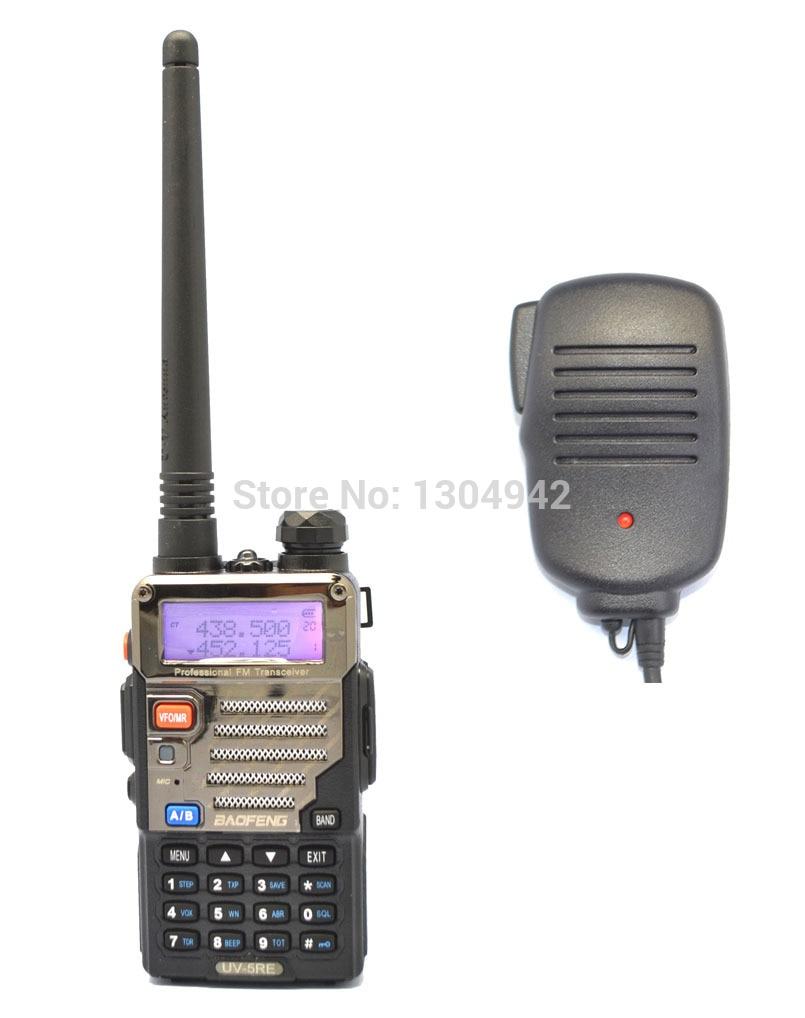 BAOFENG UV-5RE Walkie Talkie VHF/UHF Dual Band Ham Handy Hunting Radio Receiver With Headfone + Speaker MicBAOFENG UV-5RE Walkie Talkie VHF/UHF Dual Band Ham Handy Hunting Radio Receiver With Headfone + Speaker Mic