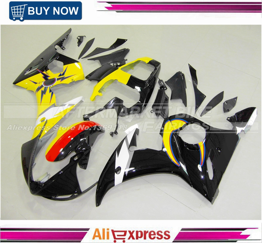 Moon & Sun Decals Fairing kit for YZF-R6 YZF R6 03 04 05 YZFR6 R6 YZF600 2003 2004 2005 Motorcycle Fairings bodywork hot sales yzf600 r6 08 14 set for yamaha r6 fairing kit 2008 2014 red and white bodywork fairings injection molding