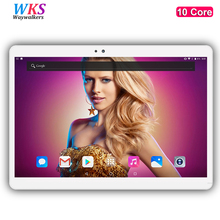 WKS H8 10 pulgadas tablet PC 10 core Android 7.0 Phone call 4G LTE RAM 4 GB ROM 64 GB 1920×1200 IPS tablets smartphone ordenador MT6797