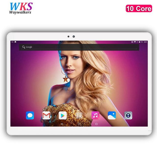 WKS H8 10 inch tablet PC 10 core Android 7.0 Phone call 4G LTE RAM 4GB ROM 64GB 1920x1200 IPS tablets smartphone computer MT6797