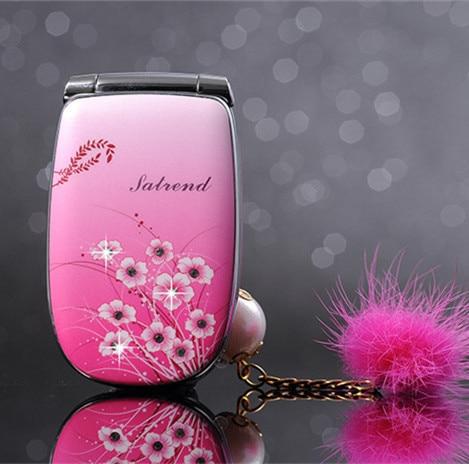 Unlocked Luxury Flip Lady Mobile Phone A1 Beautiful Led