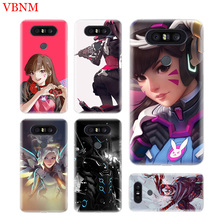 Overwatchs OW D.VA Soft TPU Fit Phone Case For LG V40 G6 G7 Q6 Q8 Q7 G5 G4 V30 V20 V10 K8 K10 2018 2017 Customized Cases Coque