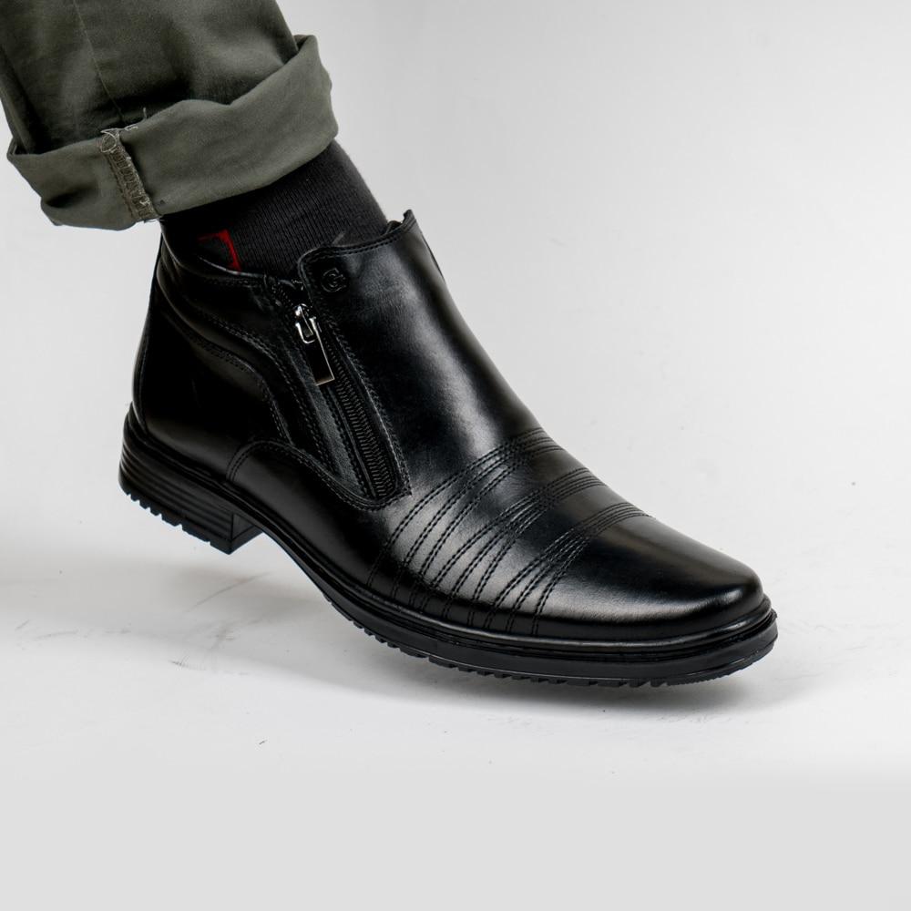 DOF Bull En Cuir Hommes Bottes Printemps Automne Et Hiver Homme chaussures Bottines Hommes de Neige Chaussures De Travail Plus La Taille 39-46 000-003