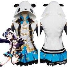 Love Live! Aqours Tsushima Yoshiko Yohane Косплей Костюм Платье Чонсам Хэллоуин карнавальные костюмы для женщин девочек