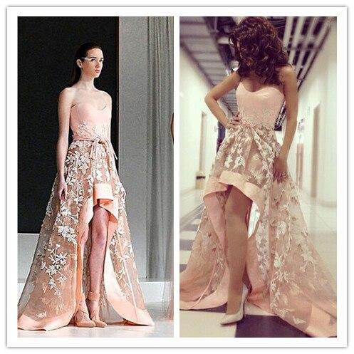 MF08 Sexy abiye Myriam Fares Celebrity Dress Ungleiche Top Ernte ...