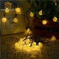 Férias Corda Iluminação 6.2 M 30 LED Solar Cordas Luz Para Festa de Casamento Guirlanda Decoração de Natal Bola De Cordas Flasher Luz