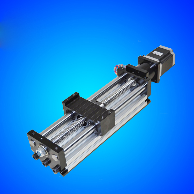 1204 CNC Guide module 80*50 Sliding Table 100mm to 1000mm effective stroke 1204 Ballscrew +nema17 stepper motor toothed belt drive motorized stepper motor precision guide rail manufacturer guideway