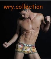 XTG Printed Brief Hot SALE Man Underwear Mens Cotton Briefs Europe Size Briefs For Man Free