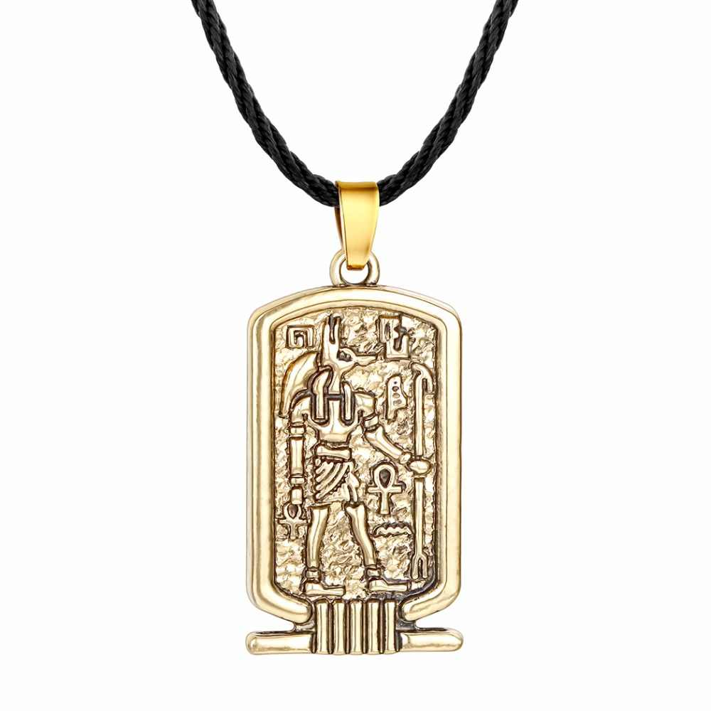 女性ロットアヌビスペンダントネックレス古代エジプト宗教ジュエリーエジプトヒエログリフ素晴らしい男性ネックレスシルバーエジプトチャーム