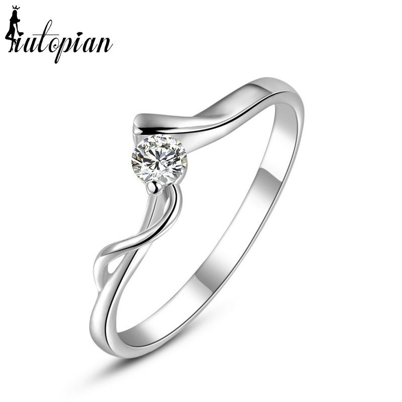 Summer Sunshine Mall Iutopian Fashion Jewelry White Color Engagement Curve Rings For Women Made With Austrian Crystal Stellux Top Quality
