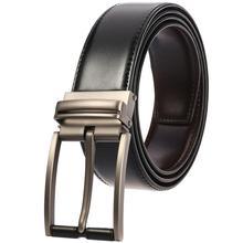 Retro Pin Buckle Men Belt Cow Genuine Leather Designer Belts for Men Good Quality Fashion Male Strap Belt for Jeans Pants