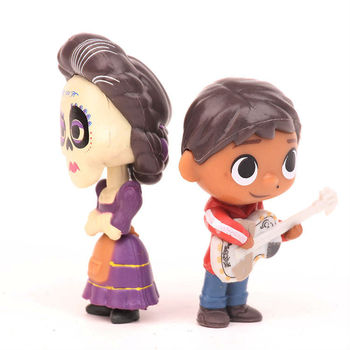 8pcs/set Movie Pixars COCO Cute Character Figure Model Toys