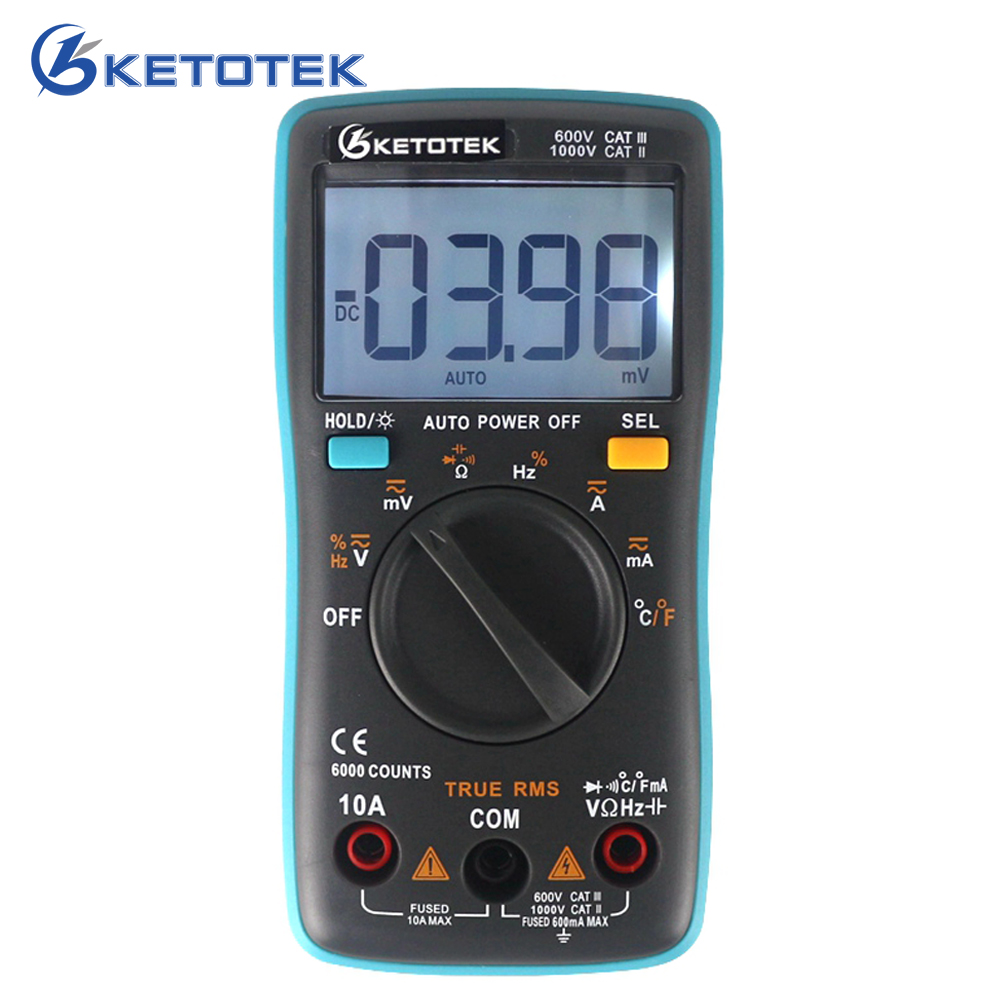 True RMS Digital Multimeter Thermometer Current Voltage Resistance Capatitance Meter Multi Tester with Temperature Probe цена