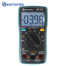 True RMS Digital Multimeter Thermometer Current Voltage Resistance Capatitance Meter Multi Tester with Temperature Probe
