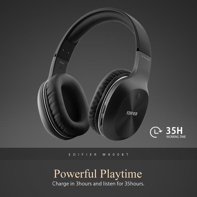 Edifier W800BT Bluetooth Casque Casque Stéréo Sans Fil Écouteur pour iPhone Android Téléphone Ordinateur fone de ouvido - 3
