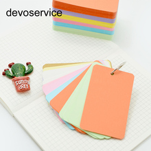 1PCS Cute Candy Color Blank Kraft Paper Memo Pads Portable Notepads Words Cards Kids Gift Stationery