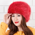 New Women Winter Warm Soft Fluffy Faux Fur Hat Russian Cossack Beanies Cap Ladies Ski Hats