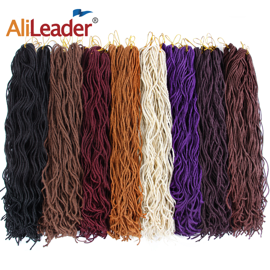 Alileader 15Roots Faux Locs Curly Crochet Hair 20 inch 6 ...