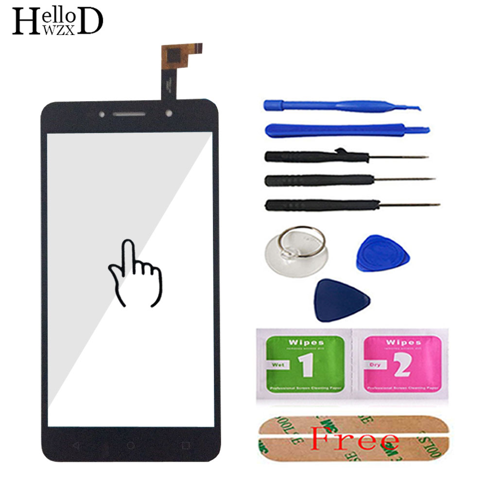 Mobile Touch Screen For Alcatel One Touch Pixi 4 OT-8050D OT8050 8050D 8050 Touch Front Glass Digitizer Lens Sensor Adhesive